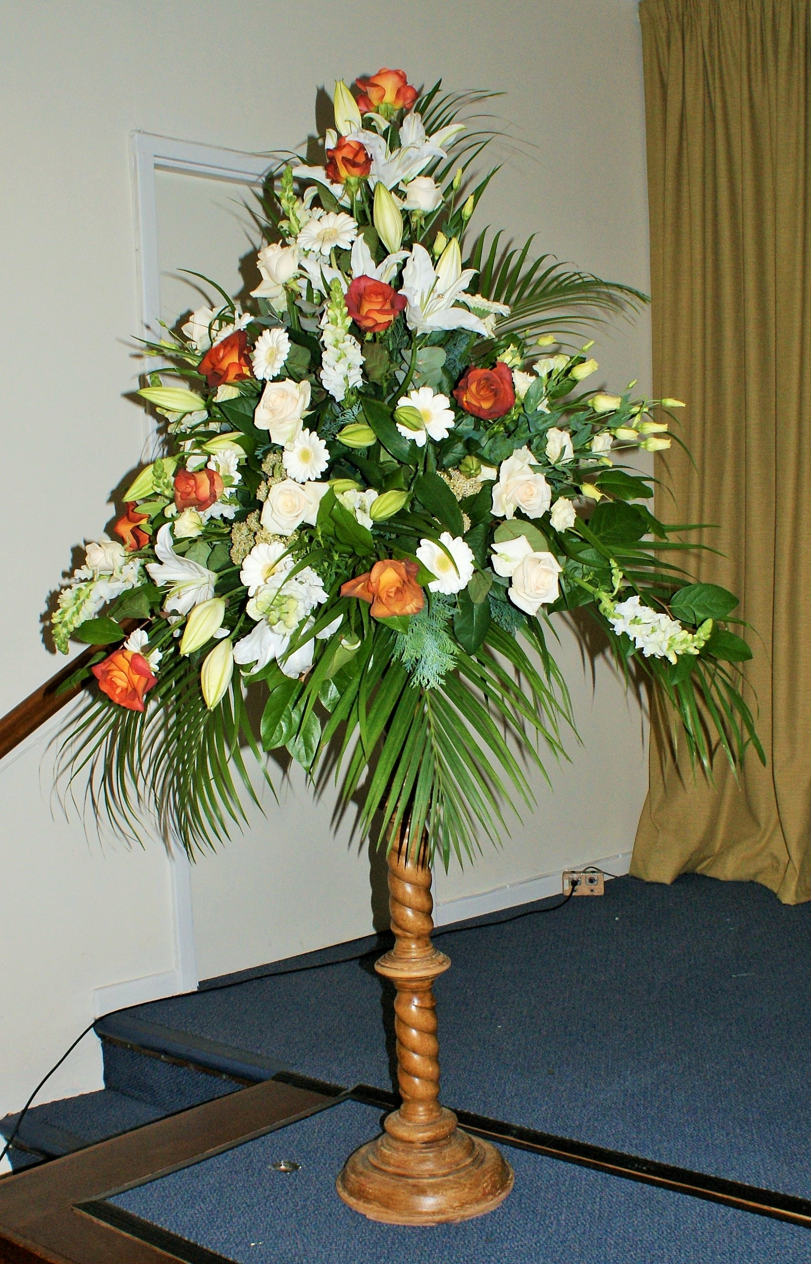 Pedestal Arrangements | Belper Florist | Derby Flowers ...
