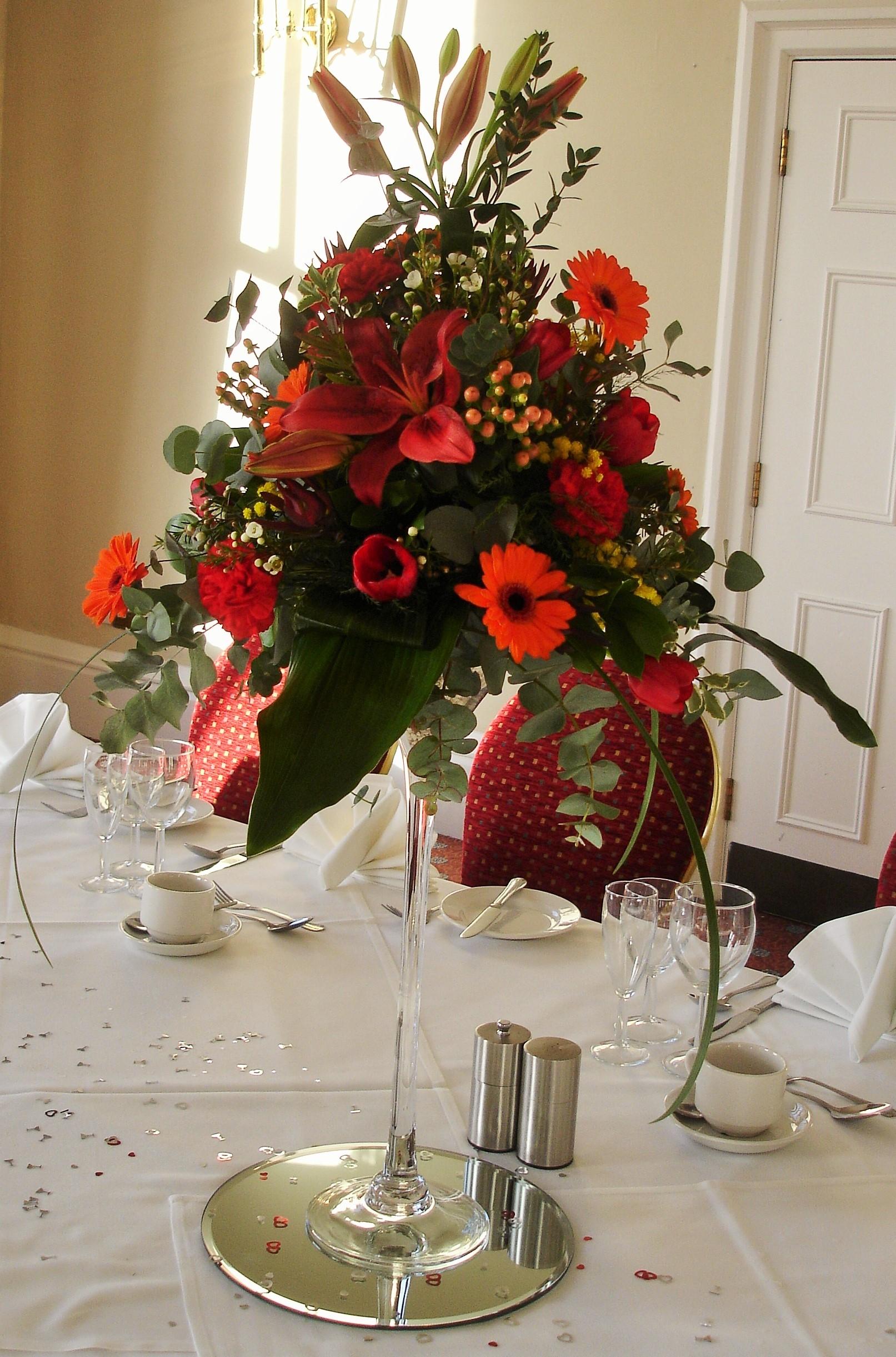 Table Centre Arrangements Belper Florist Derby Flowers