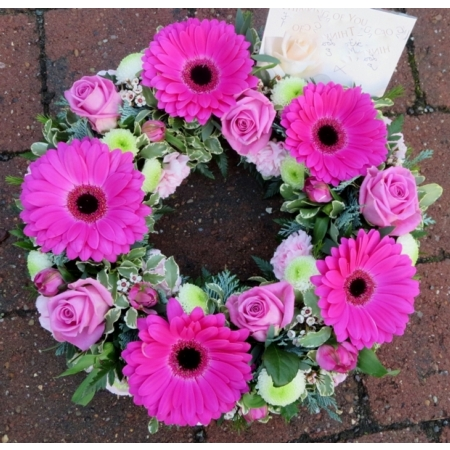 Cerise Pink Wreath