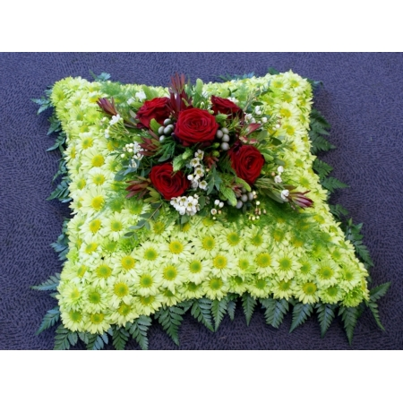 Red and Green Based Cushion