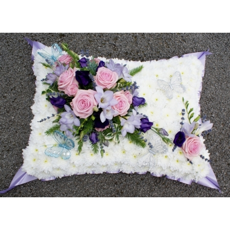 Pink and Lilac Butterfly Pillow