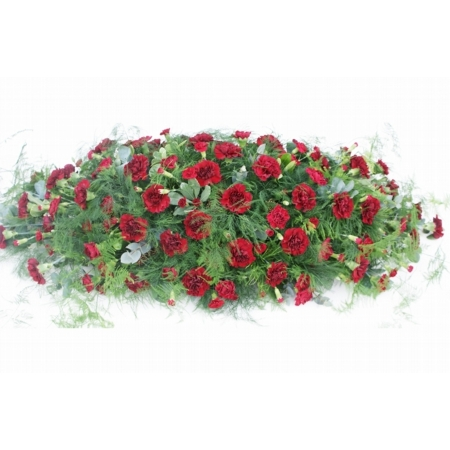 Red Carnation Double Ended Spray