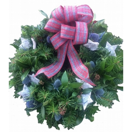 Thistle and Star Door Wreath