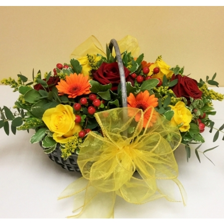 Red, Orange and Yellow Basket