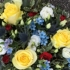 Yellow and Blue Posy Pad
